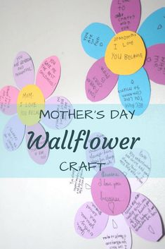 Mother's Day Wallflower Craft | Crafts for Kids | Gifts for Mother's Day