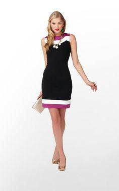 Allaire Dress in Black Allaire Color Stripe Trim $188 (w/o 9/15/12) #lillypulitzer #style #color