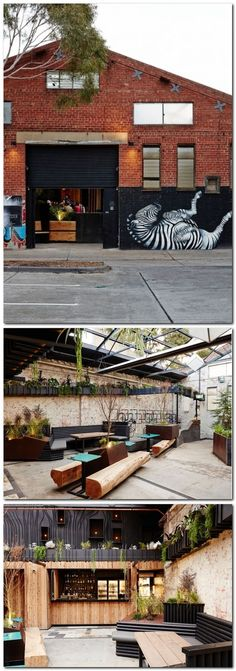 Howler by Splinter Society. Melbourne may be in the midst of winter but a new beer garden on the Australian citys scene is sure to draw punters in from the cold. Terrace Design, Garden Design, Ideas Cafe, Australian Beer, Modern Fire Pit, Small Space Gardening, Modern Architecture, Chinese Architecture, Garden Furniture
