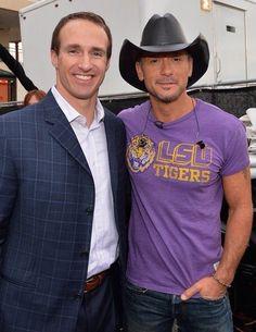Drew Brees and Tim McGraw. Love Louisiana! #LSU