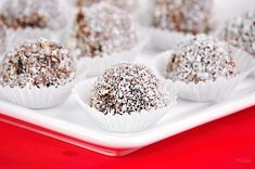 A classic Christmas nibble, rum balls are a decadent blend of nuts, cookie, sugar and rum. Easy to make, this vegan holiday dessert is perfect for the holidays! Christmas Nibbles, Christmas Dishes, Vegan Christmas, Christmas Baking, Christmas Holiday, Christmas Cookies, Raw Vegan Desserts, Vegan Dishes, Snack Recipes