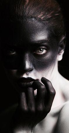 Facing the Shadow Self (Photographer: Jesse Vargas Makeup/Model: Bree Widener) Dark Photography, Beauty Photography, Portrait Photography, Look Festival, Maquillage Halloween, Creative Portraits, Fantasy Makeup, Dark Beauty, Creative Makeup