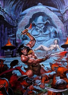 Find images and videos about conan and barbarian on We Heart It - the app to get lost in what you love. Fantasy Sword, Fantasy Warrior, Dark Fantasy, Conan Comics, Marvel Comics, Paladin, Dungeons And Dragons, Comic Books Art, Comic Art