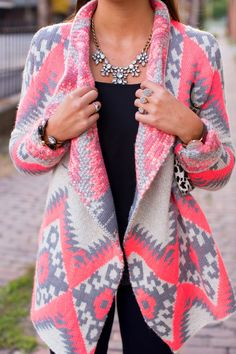 A Southern Drawl: Pink Aztec Print ~ My sister liked this first and I couldn't agree more! It would look fabulous on her. I would love it in a mint or teal!