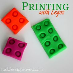 Toddler Approved!: Printing with Legos
