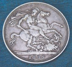 1889 queen #victoria sterling silver #crown coin very nice collectable #condition,  View more on the LINK: http://www.zeppy.io/product/gb/2/191931211684/