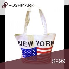 ❗️🌀BOGO🌀❗️🇺🇸 Zippered Tote🇺🇸 Brand new. American flag & letter print design. Soft canvas material. Bags Totes