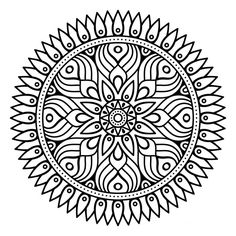 Find Flower Mandala Vintage Decorative Elements Oriental stock images in HD and millions of other royalty-free stock photos, illustrations and vectors in the Shutterstock collection. Mandala Art, Mandala Drawing, Flower Mandala, Mandala Pattern, Zentangle Patterns, Mandala Coloring Pages, Colouring Pages, Coloring Books, Free Adult Coloring