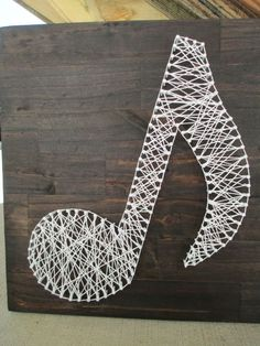 String Art Music Note Nail and String Art by ArnieKHandmade: