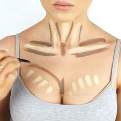 25 Trendy Makeup Contour Chest 25 Trend… 25 Modische Make-up-Konturtruhe 25 Modische Make-up-Konturtruhe Body Makeup, Contour Makeup, Beauty Makeup, Face Contouring, Contouring And Highlighting, Makeup Contouring Tutorial, Contouring Products, Maquillage Goth, Makeup Tips For Beginners