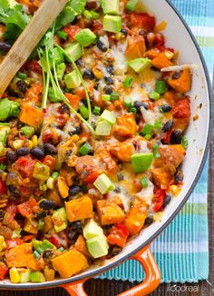 tex mex quick sweet potato skillet