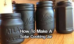 How To Make A Solar Cooking Jar