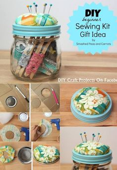 38 New Ideas For Sewing Projects Diy Pin Cushions 38 New Ideas For Sewing Projects Diy Pin Cushions Pot Mason Diy, Mason Jar Crafts, Mason Jars, Sewing For Beginners Diy, Diy Craft Projects, Sewing Projects, Sewing Kits, Free Sewing, Sewing Tutorials