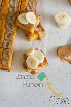 banana pumpkin caramel cake