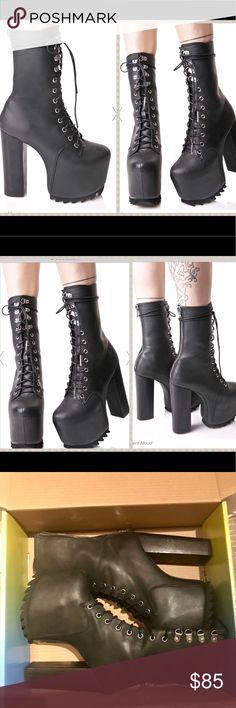 533999e92e34 NWT Current Mood platform black lace up boots Current Mood Nola Boots
