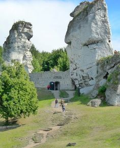 Limestone Fortress in Czestochowa region of Poland