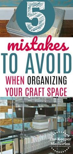 Aside from the fact that I almost never leave my house without a coupon and therefore always come home with something, there are a few other things th. The 5 Biggest Mistakes I Made When Organizing My Creative Space Scrapbook Room Organization, Craft Organization, Scrapbook Rooms, Organizing Tips, Scrapbooking, Coupon Organization, Organising, Closet Organization, Fractions
