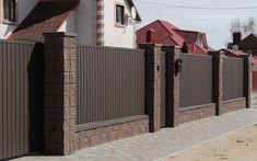 Front Wall Design, House Fence Design, Fence Gate Design, Exterior Wall Design, Modern Fence Design, Balcony Railing Design, Best Modern House Design, Dream Home Design, Compound Wall Design