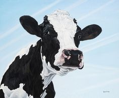 "Saatchi Online Artist Clara Bastian; Painting, ""Cow 8704"" #art"