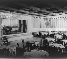 Historic Photograph of Interior Of Ciro's Nightclub On Sunset Blvd. In West Hollywood