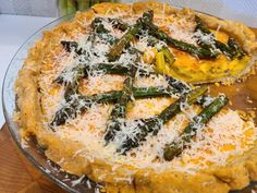 Get Asparagus and Parmesan Crusted Quiche Recipe from Food Network Pan Dulce, Quiches, Biscotti, Food Network Recipes, Food Processor Recipes, Filet Mignon Chorizo, Kitchen Recipes, Cooking Recipes, Salsa