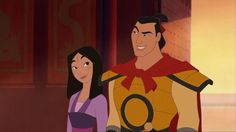 Day 9: Favorite Couple Mulan and Shang complement each other so well. They're perfect for each other.