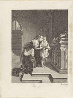 Philippus Velijn   Jeanne d'Albret met het kind Henry de Bourbon, Philippus Velijn, 1821   Jeanne d'Albret met het kind Henry de Bourbon, bij de graftombe van haar echtgenoot Antoine de Bourbon, koning van Navarra. Rechtsonder: bl. 39.
