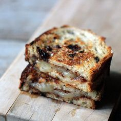 Fig, Manchego Grilled Cheese Sandwich on Olive Bread