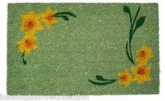 Daffodil Welcome Mat Welcome Mats, Daffodils, Shag Rug, Shaggy Rug, Blankets