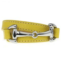 The Burghley collection of Dimacci consists of a series of leather bracelets with steel or steel-plated lockets. The bracelet is twisted around the wrist three times. BoumanOnline.com
