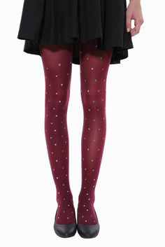 Cute Candy Fruits Tights In Burgundy . Free 3-7 days expedited shipping to U.S. Free first class word wide shipping. Customer service: help@moooh.net