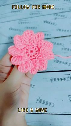 Crochet Stitches For Beginners, Crochet Stitches Patterns, Crochet Videos, Crochet Designs, Knitting Patterns, Free Crochet Flower Patterns, Knitting For Beginners, Crochet Baby Dress Pattern, Crochet Flower Tutorial