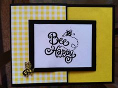 Bee Happy Joy Fold by - Cards and Paper Crafts at Splitcoaststampers Joy Fold Card, Fun Fold Cards, Folded Cards, Bee Cards, Bee Happy, I Card, Bees, Cardmaking, Stampin Up