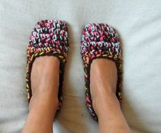 Durable thick slippers    Ballet flats  Longlasting by EllenaKnits