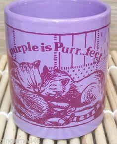 Purple is Purr fect Mug Cup Cat Mug Free shipping