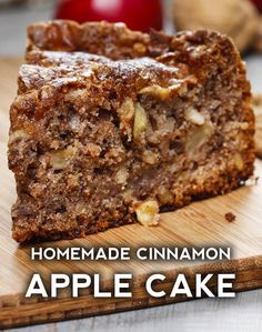 Apple Cake Cinnamon Apple Cake – Delicious recipes to cook with family and friends.Cinnamon Apple Cake – Delicious recipes to cook with family and friends. Apple Cake Recipes, Apple Desserts, Just Desserts, Baking Recipes, Delicious Desserts, Yummy Food, Apple Cakes, Cooking Apple Recipes, Easy Fruit Cake Recipe