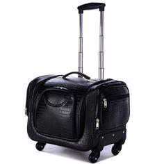 Professional Large multi-layer cosmetics box,universal wheels trolley luggage travel bag bride bag,crocodile pattern,leopard bag
