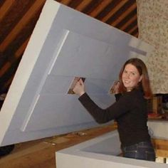 How to insulate and air seal an attic hatch diy pinterest 9 green products you should know about insulating atticattic stair solutioingenieria Images