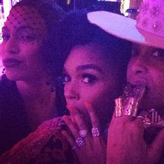 Janelle Monae and Beyoncé's Instagram photos from the Met Gala