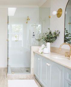 Three Birds Renovations Bathroom Makeover under Paint Transformation, Tile Paint, Cabinet Paint Home Decor Items, Cheap Home Decor, Bathroom Renovations, Home Remodeling, House Renovations, Three Birds Renovations, Cabinet, Bathroom Inspiration, Bathroom Inspo