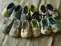 DIY Baby shoes.  Free Patterns