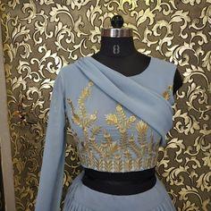 sky blue georgette stylist ruffle lehenga choli Blue Lehenga, Silk Lehenga, Indian Wedding Wear, Lehnga Dress, Indian Fashion Dresses, Georgette Fabric, Lehenga Designs, Blue Blouse, Stylists