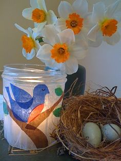bluebird of happiness tissue candle holder