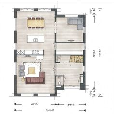 Garage House Plans, Dream House Plans, House Floor Plans, Sims 4 House Design, Modern House Design, Co Housing, Simple House Plans, Residential Interior Design, New Home Designs