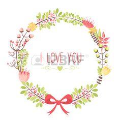 Elegante tarjeta de felicitaci n floral para bodas y cumplea os invitaciones Foto de archivo