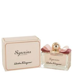 New #Fragrance #Perfume #Scent on #Sale  Signorina by Salvatore Ferragamo 3.4 oz EDP Spray - Signorina belongs to the elusive range of perfumes from Salvatore Ferragamo and was launched in 2011. A fresh and elegant perfume, Signorina has tantalising layers of notes, currant with pink pepper, jasmine with peony and rose followed by panaccotta, musk and patchouli. A heady mix, Signorina hints at the allure of the young woman in you and subtly enhances your youthful charm.. Buy now at…