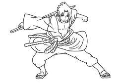 Manga Naruto Coloring Pages For Kids Printable Free