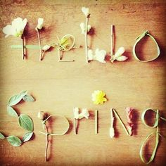 << hello spring {photo via c&c california} >>