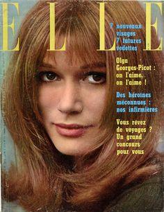 Olga Georges-Picot en couverture de Elle n°1152 du 18 janvier 1968