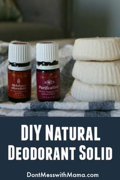 DIY Natural Deodorant Solid Recipe - Tried homemade deodorants before but they didn't work? This one does! I love it! It keeps me odor free all day long, even after a workout - DontMesswithMama.com